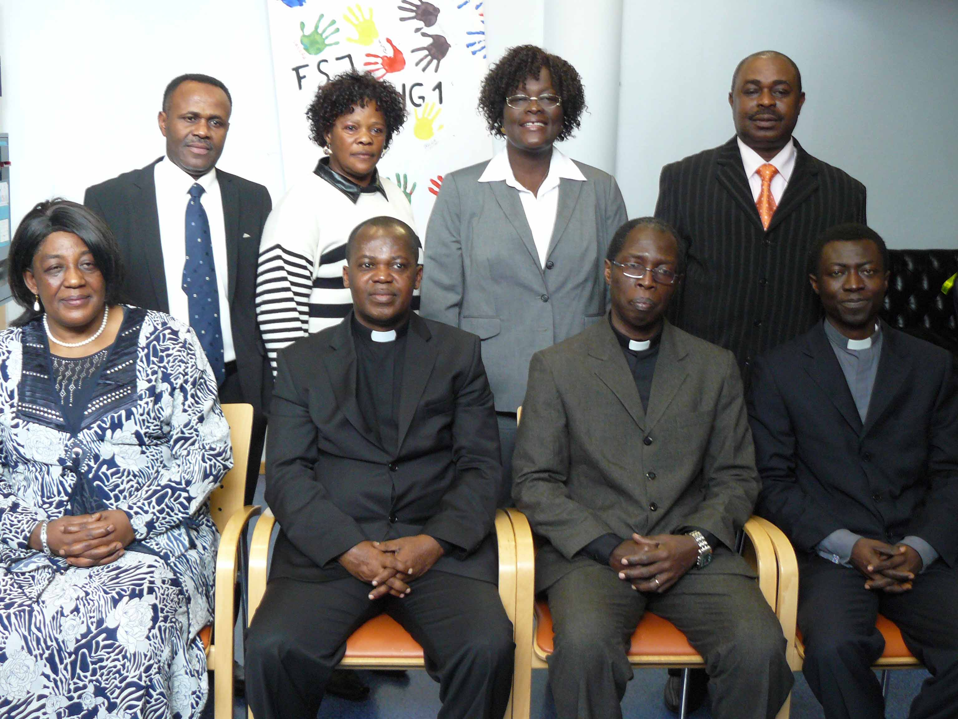 Catechist Lydia Asabea, our Ministers and the Bremers.