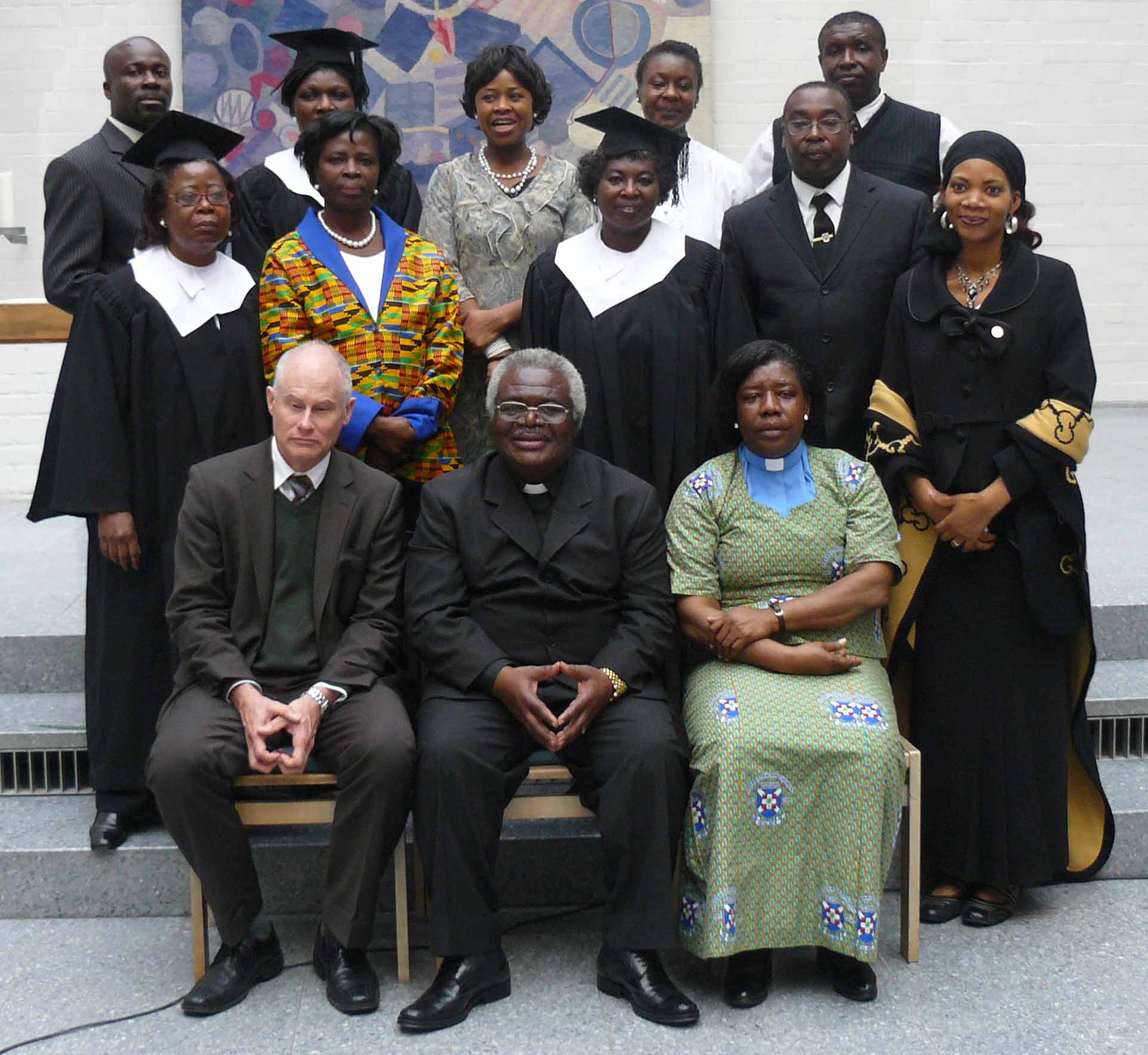 Choir members with the Moderator during his visit to Germany